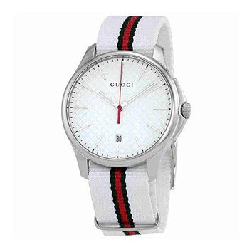 Gucci G-Timeless Silver Dial Mens Watch YA126323