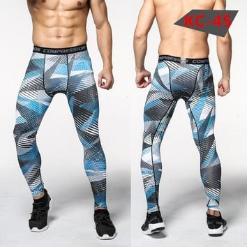 Sweat-absorbent breathable sweatpants Men's compression stretch gym workout pants full man tracksuit MMA fitness apparel winter