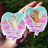 DON'T GIVE ME A CAUSE ♥ sticker from ♥ SUGARBONES ♥