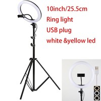 10 inch USB charge New Selfie Ring Light Flash Led Camera Phone Photography Enhancing for Twitch youtube tiktok