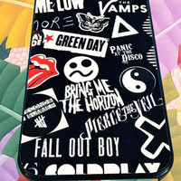 mayday parade fall out boy nirvana design for iPhone 4/4s/5/5S/5C/6, Samsung S3/S4/S5 Unique Case *95*