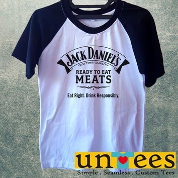 Jack Daniels Ready to Eat Meats Short Raglan Sleeves T-shirt