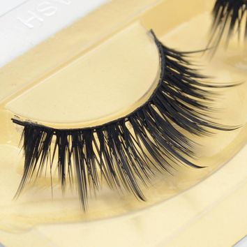1 pair Mink Lashes Handmade false eyelash 3D strip mink lashes thick fake faux eyelashes Makeup beauty #8A14