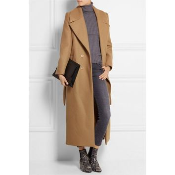 Monroe Wool Maxi Long Coat