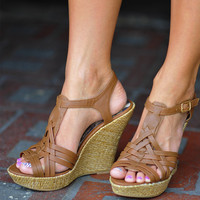 Gladiator Of Love Wedges: Gold | Hope's