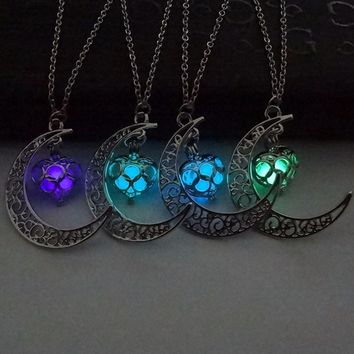 Moon Glowing Necklace Charm