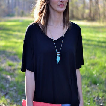 PIKO V-Back Top In Black