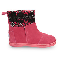 Hot Pink Knit Tiny TOMS Nepal Boots