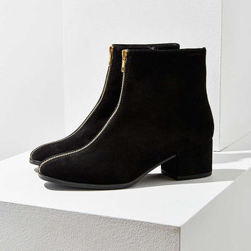 Vagabond Suede Daisy Zipper Ankle Boot - Urban Outfitters