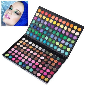 Multifunction Rectangle Box Makeup 168 Colors Eye Shadows Palette