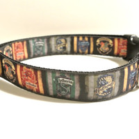 "Hogwarts Collar - 1"" Adjustable Harry Potter inspired Dog Collar"