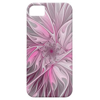 Fractal Pink Flower Dream, Floral Fantasy Pattern iPhone SE/5/5s Case