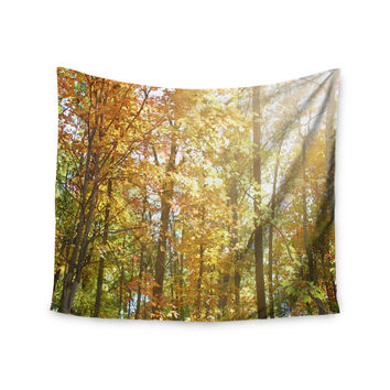 "Sylvia Coomes ""Autumn Trees 2"" Orange Yellow Wall Tapestry"