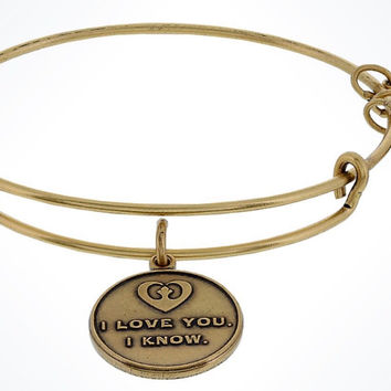 Disney Parks Star Wars I Love You Gold Bangle Charm By Alex & Ani New