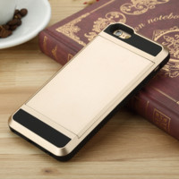 Credit Card STOWAWAY Phone Case Cover for Apple iPhone 7 7 Plus 5S 5 SE 6 6S 6 Plus 6S Plus + Nice gift box! LJ160926-004