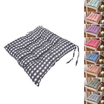 Dining Garden Patio Chair Office Seat Pads Tie On Pad Cushion Kitchen Decor HU