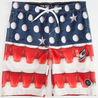 O'neill Murca Mens Volley Boardshorts Red/White/Blue  In Sizes