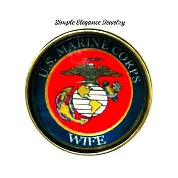 Marine Corps Wife Snap Charm 20mm Snap