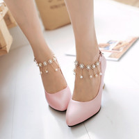 Sweet fashion cute high heels shoes