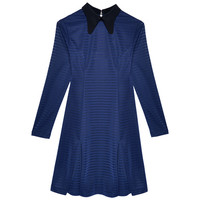 SWEET VALLEY POLO DRESS IN NAVY