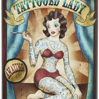 TATTOOED LADY FLASK in Barware at Sourpuss Clothing