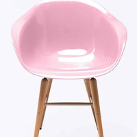 Kare Armrest Chair in Pink - Urban Outfitters