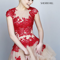 Sherri Hill 1153 Cap Sleeve Short Prom Dress