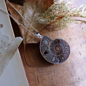 Ammonite Silverplated Necklace