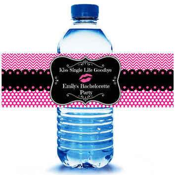 Bachelorette Party Water Bottle Label 10ct -  Party Supplies - Bachelorette Party Favors - Hangover Kit - FREE Personalization