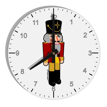 "Festive Nutcracker - No Text 8"" Round Wall Clock with Numbers by TooLoud"
