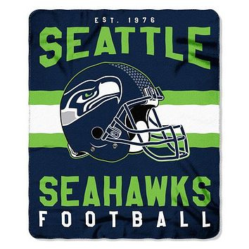"Seattle Seahawks NFL Singular"" 50""x 60"" Fleece Throw"