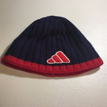 BRAND NEW ADIDAS NAVY AND RED TRIM KNIT HAT SHIPPING