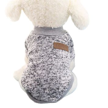 Warm Dog Hoodies for small dog Pet Clothing Winter Puppy Classic Fleece Sweater Clothes U61222