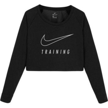 DCCKI2G Nike Casual Long Sleeve Crop Top Shirt Sweater Pullover