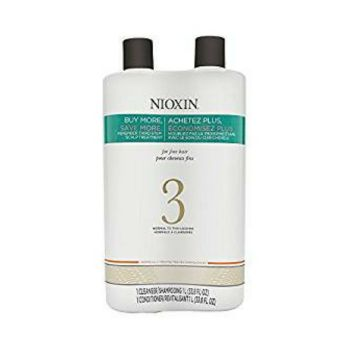 Nioxin System 3: Cleanser & Scalp Therapy Conditioner Set 33.8 oz