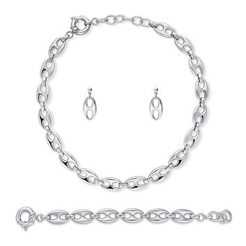 Silver-Tone Statement Necklace Earrings and Bracelet SetBe the first to write a reviewSKU# vs519-01