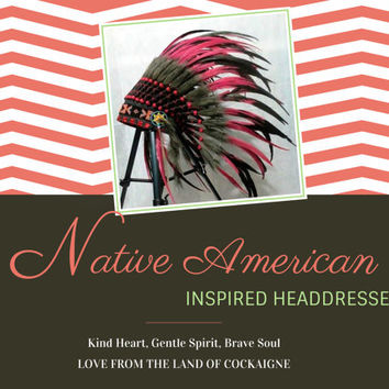 Native American Headdress, Indian Headdress, Warbonnet, Native American Costume, edc, warrior, chief indian, tee pee, pow wow, burning man