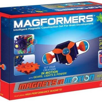 Magformers Magnets in Motion 27 Pc Magnetic Construction Power Gear Accessory Set