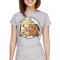 Angry Beavers Fitted Ladies' Tee - Heather,