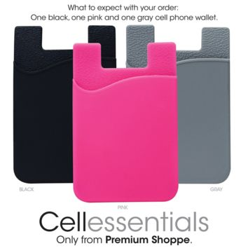 Cell Phone Wallet by Cellessentials: (For Credit Card & Id) | Works with almost