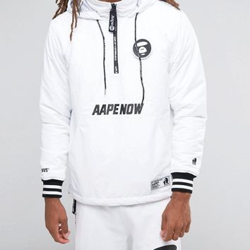AAPE By A Bathing Ape Overhead Jacket With Back Print at asos.com