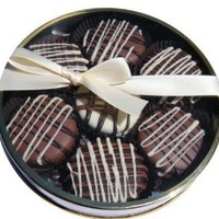 Milk Chocolate Dipped Oreo Cookies decorated with white chocolate 7 Oreo Assortment