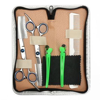 Y.F.M® 6.8 inches Hair Cutting Scissors, Comb, Clips, Barber Shears, Hairdressing Hair Styling Comb