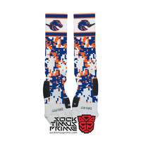 Custom Nike Elite Socks - Boise State Broncos Custom Nike Elites - Boise State Socks, BSU, Broncos Football, Custom Elites