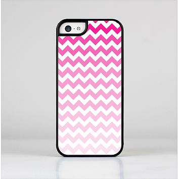 The Pink & White Ombre Chevron Pattern Skin-Sert Case for the Apple iPhone 5c
