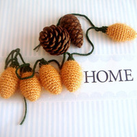 crochet light bulb garland set of 5 by sabahnur on Etsy