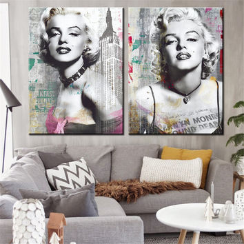Canvas Prints Marilyn Monroe Portrait Canvas Art Home Decor Wall Art Wall Pictur