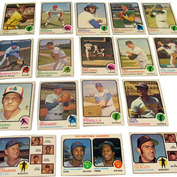 Vintage Baseball Cards, Collectible, Topps, 1973, Lot of 17, Sports Cards, Royals, Brewers