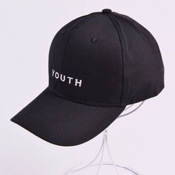 youth letter Embroidered Baseball Cap Snapback