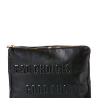 Bad Choices, Good Photos Leather Clutch